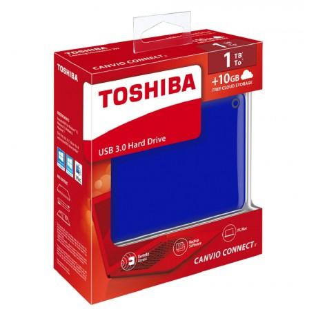 Toshiba Disco Duro Canvio Conect II 1TB Azul - Envío Gratuito