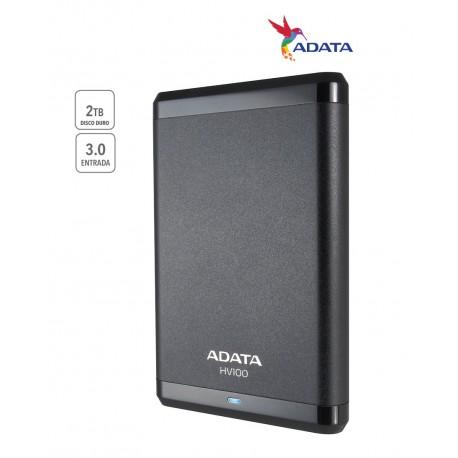 Adata Disco duro HV100 2TB BLK USB 3.0 2 TB Negro - Envío Gratuito