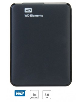 Western Digital Disco duro portatil Elements USB 3.0 1 TB Negro