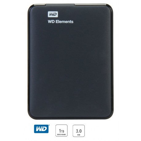 Western Digital Disco duro portatil Elements USB 3.0 1 TB Negro - Envío Gratuito