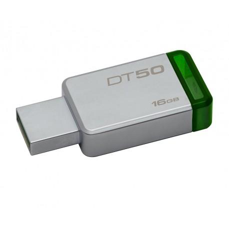 Kingston Memoria USB 3.0 DataTraveler 50 16 GB Verde - Envío Gratuito