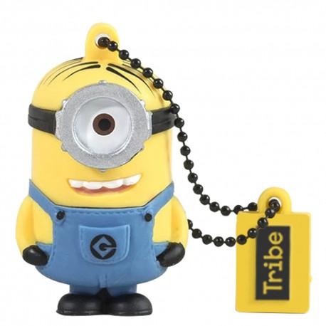 Tribe Memoria USB 16 GB Minion Stuart Amarillo/Azul - Envío Gratuito
