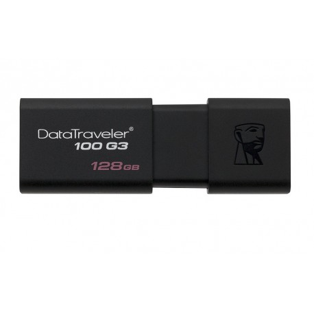 Kingston Memoria USB 3.0 DataTraveler 100 G3 128 GB Negro - Envío Gratuito
