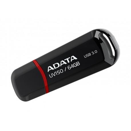 Adata Memoria USB UV150 64 GB USB 3.0 Negro - Envío Gratuito