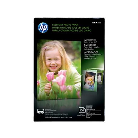 """HP Papel Photo Brillante 4 x 6"""" - Envío Gratuito"""