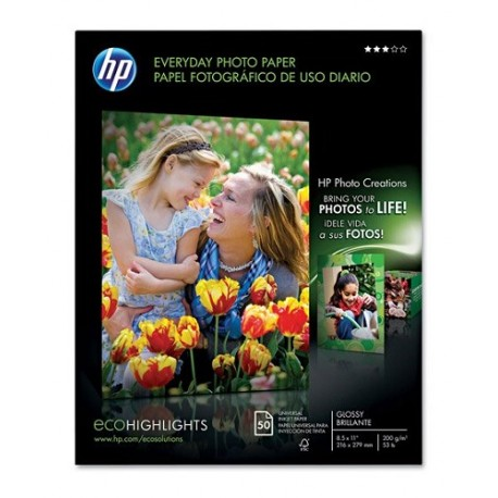 "HP Papel Photo semi brillante 8.5x11"" - Envío Gratuito"