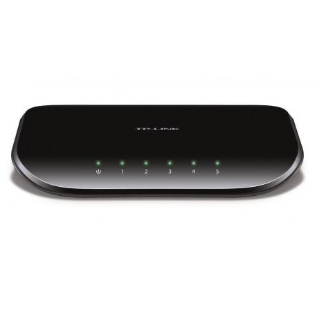 TP-LINK Switch Gigabit de escritorio de 5 puertos TL-SG1005D Negro - Envío Gratuito
