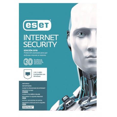 ESET Internet Security 1 Licencia 1 Año V2018 - Envío Gratuito