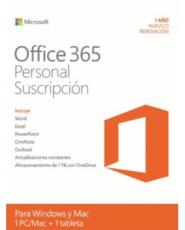 Microsoft Office 365 Personal 1 año Windows /Mac - Envío Gratuito