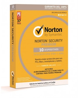 Norton Security Premium 1 Año 10 dispositivos - Envío Gratuito