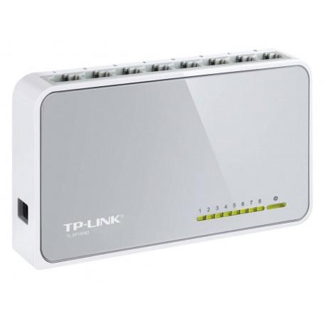 TP-LINK Switch de Escritorio de 8 Puertos de 10/100Mbps Blanco - Envío Gratuito