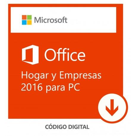 Software Descargable Microsoft Office Home & Business 2016 Blanco - Envío Gratuito