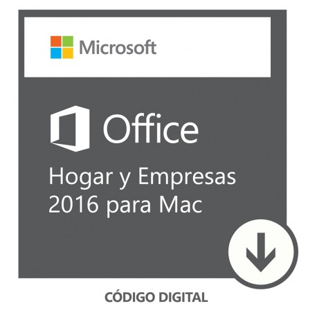 Software Descargable Microsoft Office Mac Home & Business 2016 Blanco - Envío Gratuito