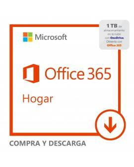Software Descargable Microsoft Office 365 Home Blanco - Envío Gratuito