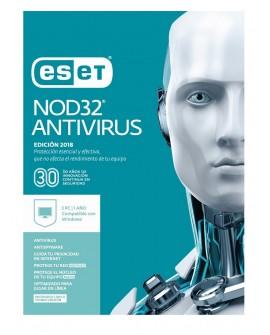 ESET Antivirus NOD32 3 Licencias 1 Año V2018