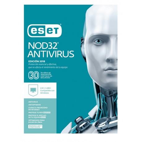ESET Antivirus NOD32 3 Licencias 1 Año V2018 - Envío Gratuito