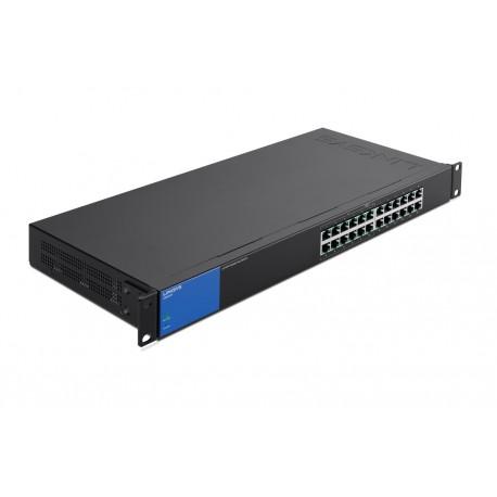Linksys Switch 24 Puertos Gigabit con PoE Negro/Azul - Envío Gratuito