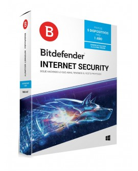Bitdefender Internet Security 1 Año 5 usuarios