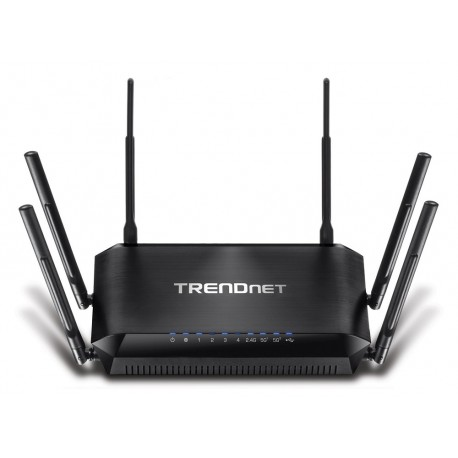 TRENDnet Router wireless triple banda AC3200 TEW-828DRU Negro - Envío Gratuito