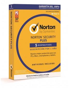Norton Security Plus 1 Año 5 dispositivos