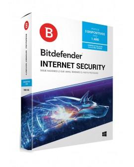 Bitdefender Internet Security 1 Año 3 usuarios