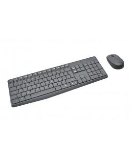 Logitech Combo Teclado y Mouse inalámbricos MK235 Negro - Envío Gratuito