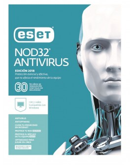 ESET Antivirus NOD32 1 Licencia 1 Año V2018