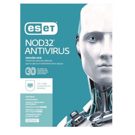 ESET Antivirus NOD32 1 Licencia 1 Año V2018 - Envío Gratuito