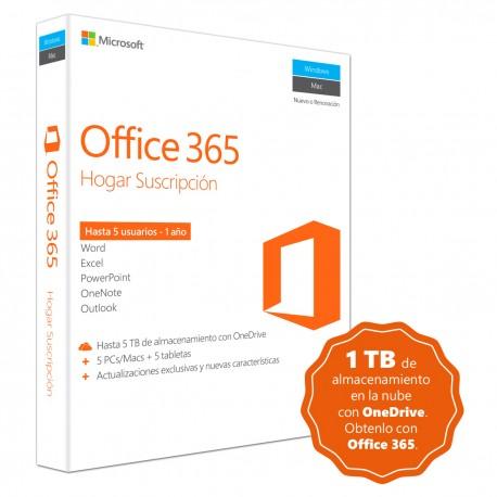 Microsoft Office 365 Home Premium 1 Año Windows - Envío Gratuito
