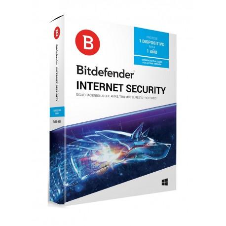 Bitdefender Internet Security 1 Año 1 usuario - Envío Gratuito