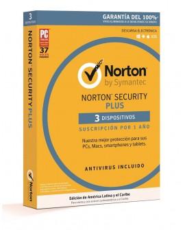 Norton Security Plus 1 Año 3 dispositivos