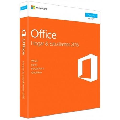 Microsoft Office 2016 Home Y Student 1 Usuario PC - Envío Gratuito