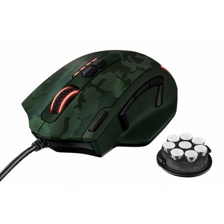 Trust Mouse Gaming Camuflaje Verde - Envío Gratuito