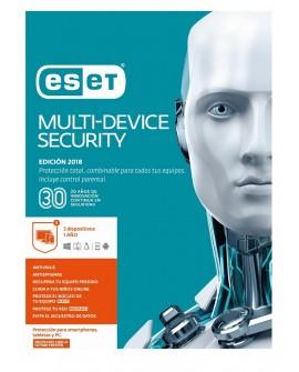 ESET MultiDevice Security 3 Licencias 1 Año V2018