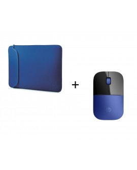 HP Bundle Mouse Inalámbrico + Sleeve Varios