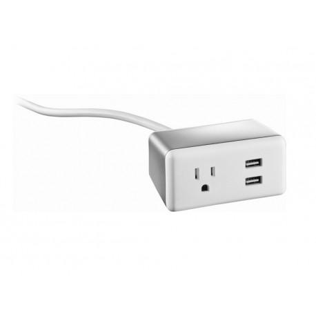 Insignia Protector contra sobretensiones 1 salida 2 USB Blanco - Envío Gratuito