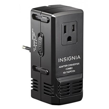 Insignia Adaptador/Convertidor de Voltaje para viaje Negro - Envío Gratuito