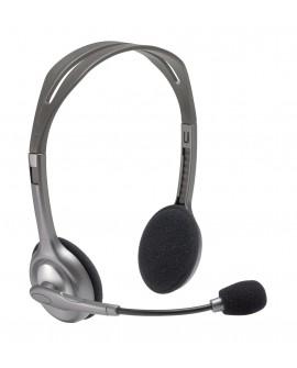 Logitech Auriculares multidispositivo H111 alámbricos Gris - Envío Gratuito