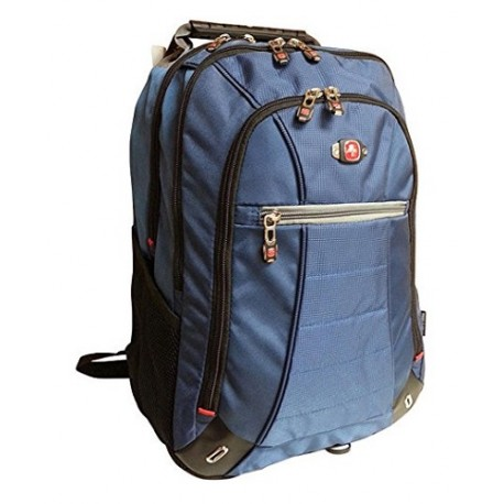 "Swiss Gear Backpack Gear SkyWalk Deluxe 16"" Azul/Negro - Envío Gratuito"