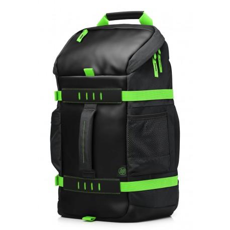 """HP BackPack de 15.6"""" Odyssey Gris/Verde - Envío Gratuito"""