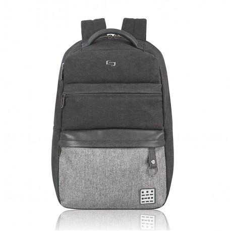 """Solo Backpack Urban Code 15.6"""" Negro/Gris - Envío Gratuito"""