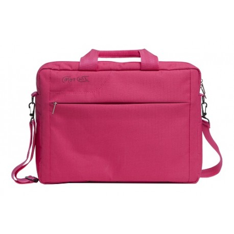 """Color Case Maletin Nylon 14.4"""" Rosa - Envío Gratuito"""