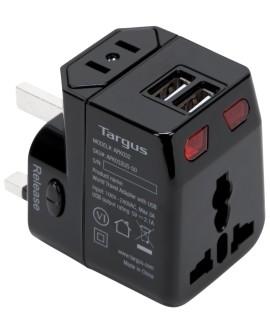 Targus Kit de Adaptadores Mundiales con 2 puertos USB Negro