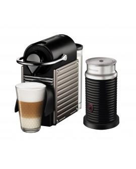 Nespresso Combo Pixie Titan Aeroccino Negro