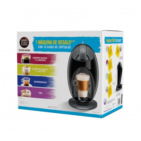 Nestlé Paquete de 10 cajas de cápsulas con cafetera Jovia Negro - Envío Gratuito