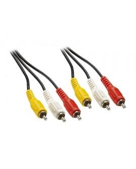 Insignia Cable video compuesto 1.8 mts Amarillo, Blanco y Rojo - Envío Gratuito