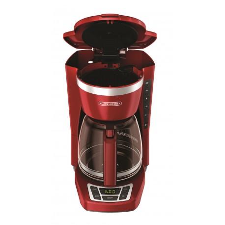 Black & Decker Cafetera programable capacidad de 12 tazas Rojo - Envío Gratuito