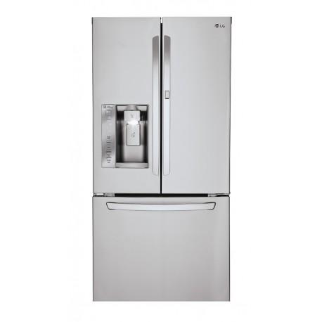 LG Refrigerador de 25Pies cúbicos con Congelador Inferior Raptor Acero Inoxidable - Envío Gratuito