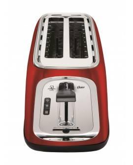 Oster Tostador de pan con capacidad de 4 rebanadas Rojo - Envío Gratuito
