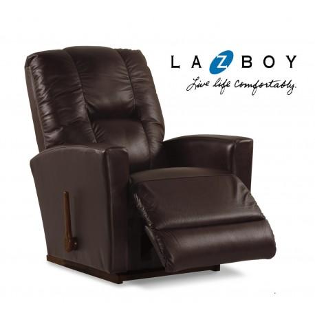LA-Z-BOY Reclinable Mecedora Casey Piel Café - Envío Gratuito